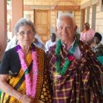 Irma e Venanzio festeggiati al kituo per il cinquantesimo di matrimonio
