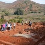 Fondamenta di una nuova chiesetta a Mbuga