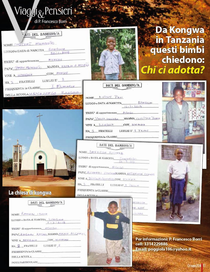 Da Kongwa in Tanzania questi bambini chiedono: chi ci adotta?